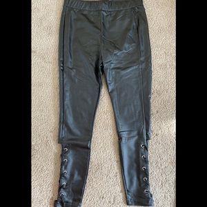 Pants - Forever 21 black faux leather leggings